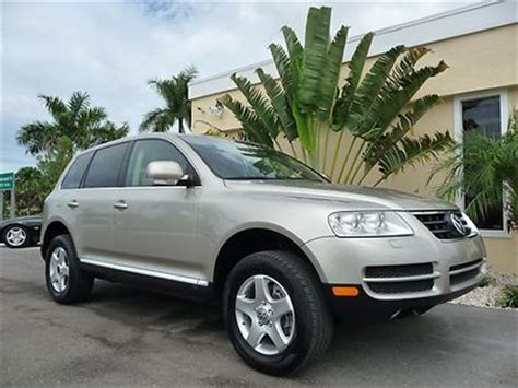 how to sell used cars 2004 volkswagen touareg parking system sell used 2004 volkswagen vw touareg v6 awd htd seats hid fl suv leather sun roof in fort myers