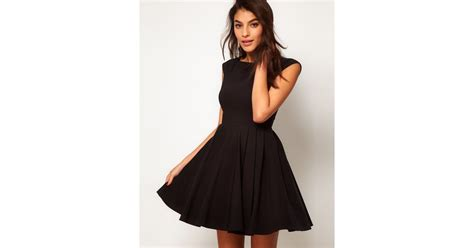 Net A Porter Cruise Collection And 50 Sale by Asos Collection Asos 50s Seamed Skater Dress In Black