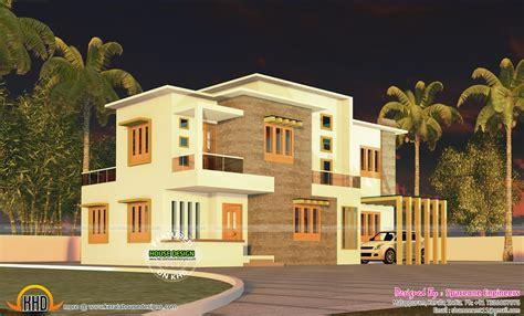 kerala home design flat roof 4 bedroom flat roof style house 2200 sq ft kerala home