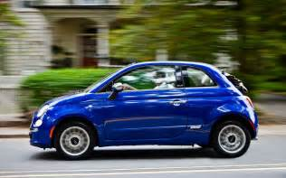 Fiat 500 Blue Fiat 500 Cabrio Blue Left Side View Motion Photo 29