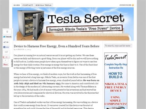 Tesla Free Energy Theory 202 Best Images About Nikola Tesla On The