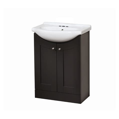 Lowes Bathroom Vanity And Sink Shop Style Selections Vanity Espresso Belly Bowl Single Sink Bathroom Vanity With Vitreous