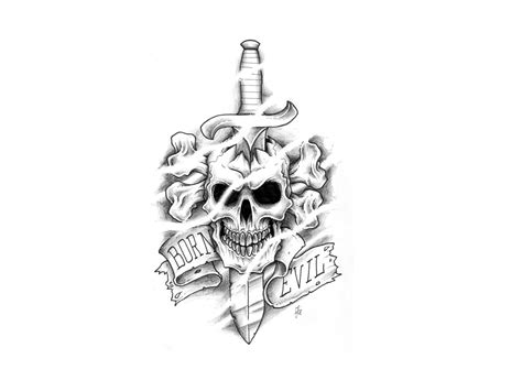 skull and sword tattoo sword images designs