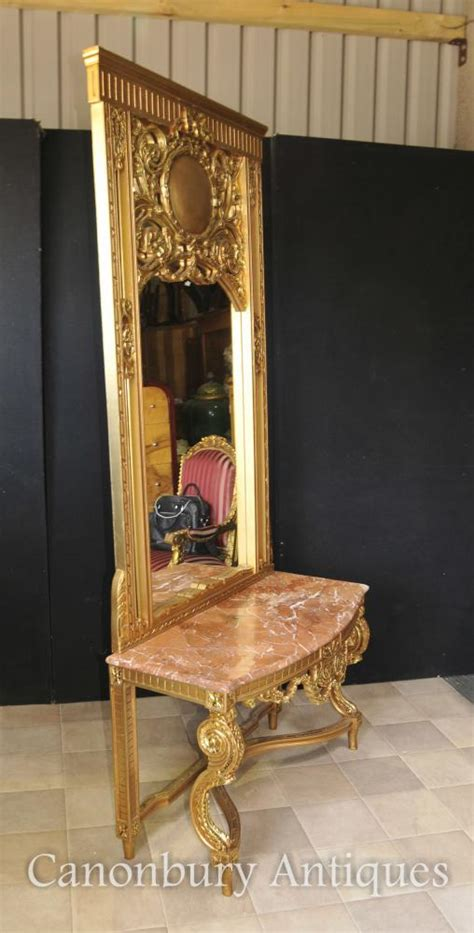Hallway Console Table And Mirror Empire Gilt Console Table And Mirror Set Tables Ebay
