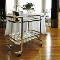 Vintage bar cart hollywood regency gleaming gold by belateddesigns