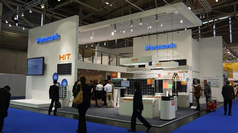 exhibition booth design japan panasonic displays its energy solutions for europe at