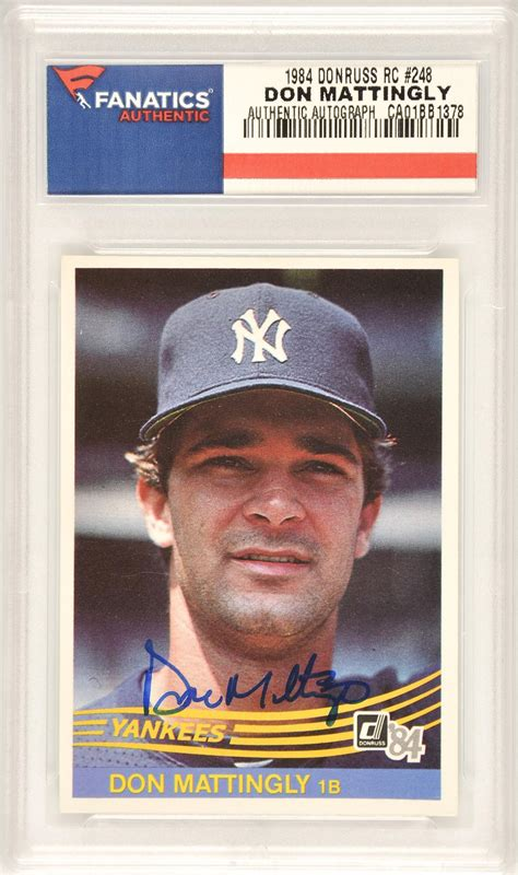 Don Mattingly Cards by Don Mattingly Baseball Slabbed Autographed Cards