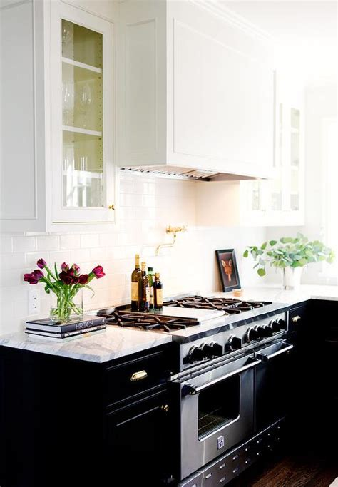 Black Lower Cabinets White Cabinets by Black Cabinets Gold Hardware Design Ideas