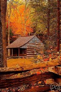 autumn in the great smoky mountains cades cove tennessee