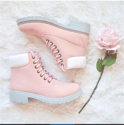 light pink and white shoes shoes colorful pink light pink pink boots flat boots
