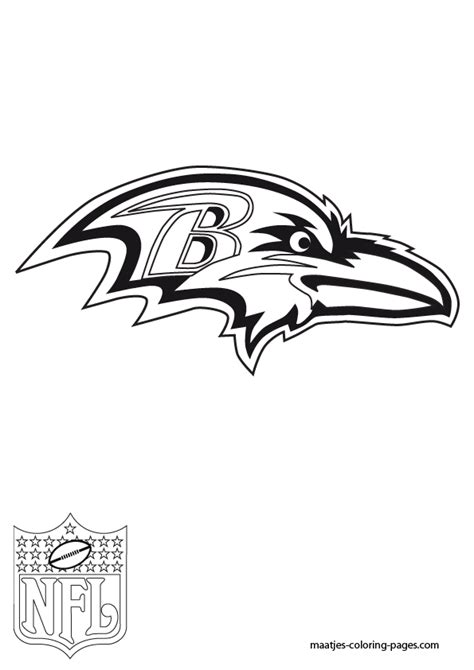 nfl symbols coloring pages coloring pictures of the ravens symbol coloring pages