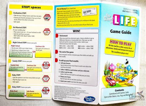 game  life  hasbro  instructions