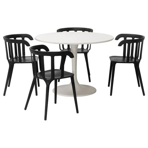 docksta table docksta ikea ps 2012 table and 4 chairs white black 105 cm
