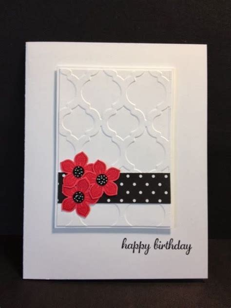 Modern Handmade Cards - creative handmade cards and embossing folder on