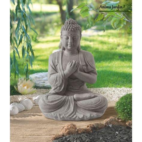 buda jardin statue buddha 60 cm en fibre de verre aspect