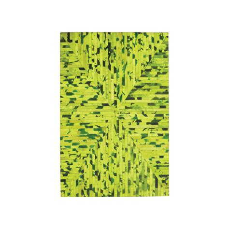 green cowhide rug cow hide rug green ticking 4 l x 6 h inc rugs touch of modern