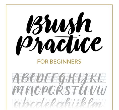 lettering template brush lettering beginners guide and tutorial