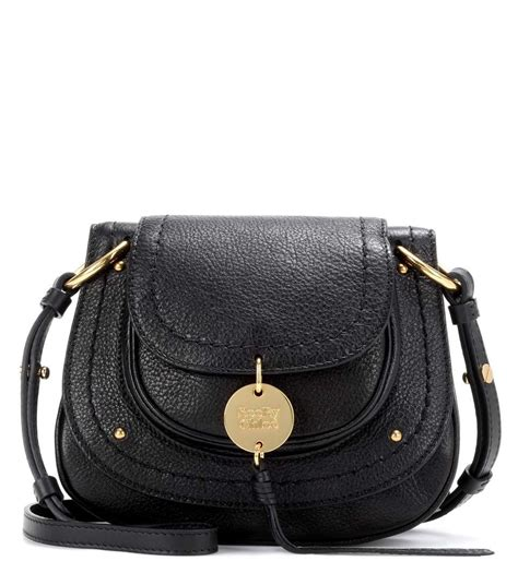 chloe susie small black leather shoulder bag bags