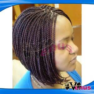 braided bob wig micro braids lace front wigs short hairstyle 2013