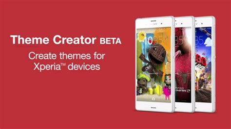 sony theme creator beta package name sony stellt theme creator in beta version vor 24android