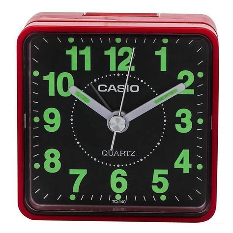 casio clock travelers beeper analog alarm clock tq140 ebay