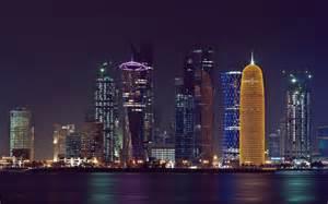 Computer Desktop Qatar Doha Persian Gulf Qatar Buildings Skyscrapers Wallpaper