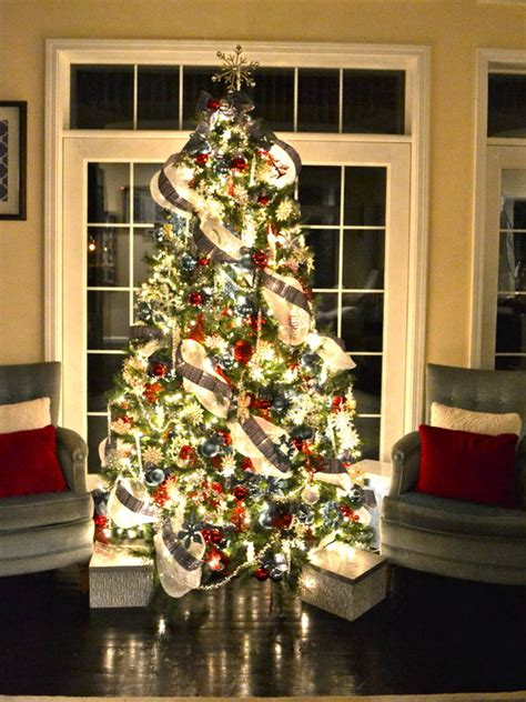 silver mesh christmas tree ribbon home design ideas