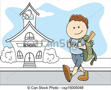 imagenes niños yendo ala escuela eps vector de ni 241 o escuela vector ni 241 os yendo