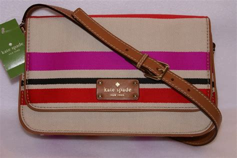 Kate Spade Oak Or Island Stripes Ori kate spade oak island stripe fynn crossbody shoulder purse nwt 151 99 passion4highfashion