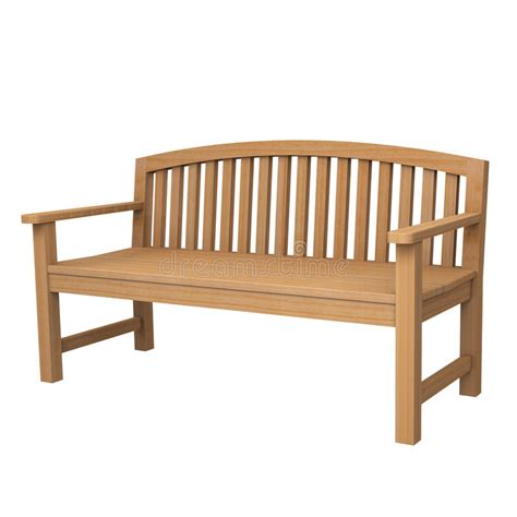white wood bench a wooden bench on white stock photo image 25099720