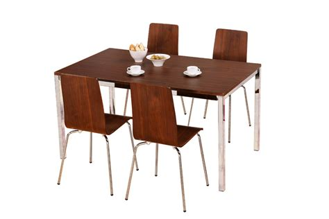 home dining sets table and 4 chairs walnut