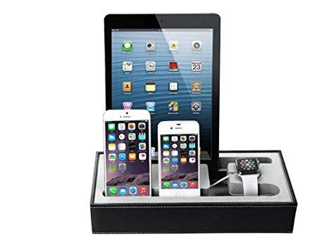 universal docking charging station desktop stand leather cojoie apple watch stand black universal multi device