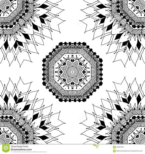 oriental pattern black and white seamless geometric pattern in oriental style stock vector