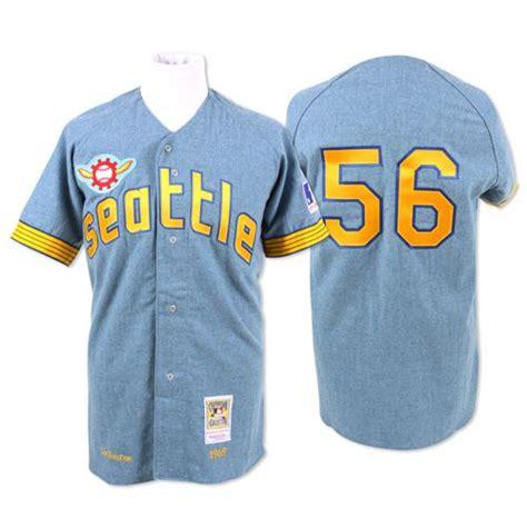 seattle pilots baseball uniform seattle pilots authentic 1969 jim bouton road jersey by