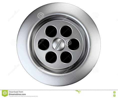stainless steel sink drain stainless steel sink drain stock illustration image of