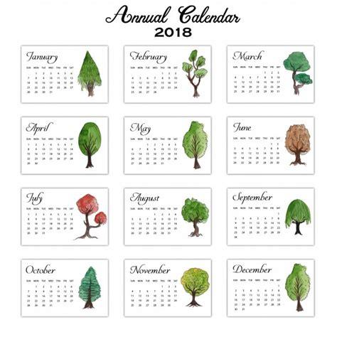 193 rboles de color de agua calendario anual 2018 descargar