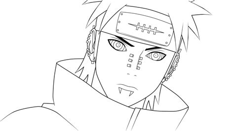 pain naruto coloring pages pain from naruto naruto shippuden lineart by kimiichii