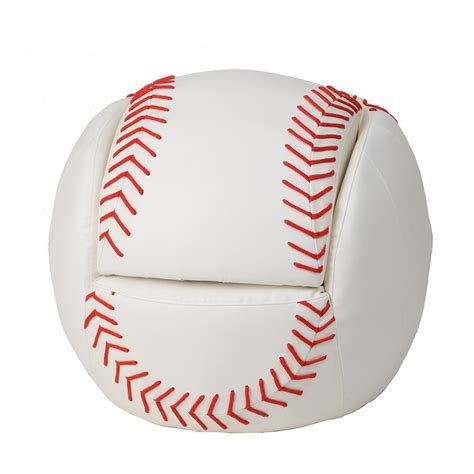 baseball chair and ottoman dreamfurniture com 6740 child s upholstered baseball