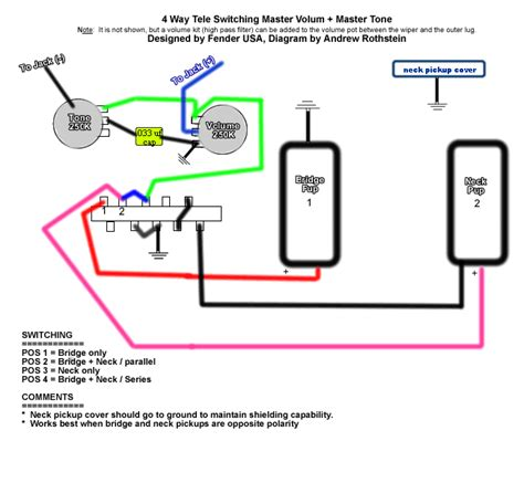 4 way wiring diagram for tele telecaster guitar forum
