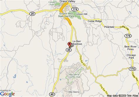 map of grass valley california map of golden chain resort motel grass valley