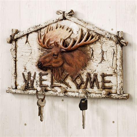 Moose Rack by Moose Wall Hook Rack Welcome Plaque