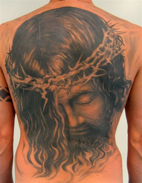 jesus cross tattoos on back large image leave comment