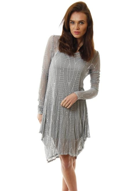 grey knit dress js millenuim grey crochet dress grey knitted day dress