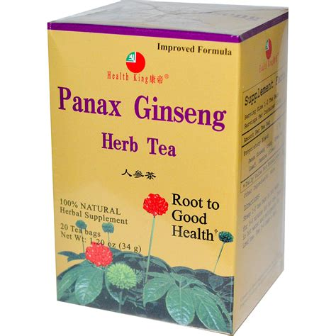 Ginseng Tea health king panax ginseng herb tea 20 tea bags 1 20 oz