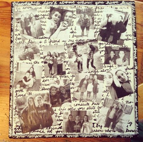 Handmade Photo Collage Ideas - diy collage gift for my best friend things to make