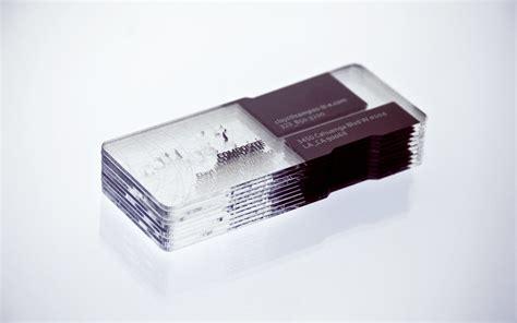 architecture business card unique transparent platic business cards composite