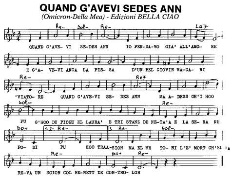 porta romana testo spartiti delle canzoni milanesi