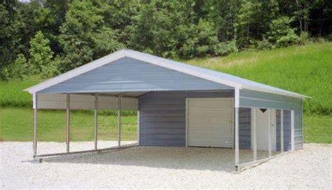 Building A Metal Carport Steel Garage Carport Combo One Two Or Three Car Metal Garage