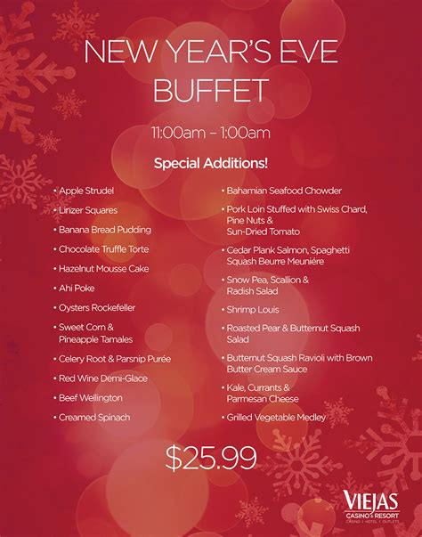 new year buffet menu san diego buffet the buffet at viejas casino viejas casino