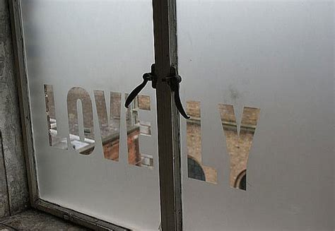 create stencils on frosted glass windows popsugar home